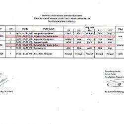 Jadwal Ujian Masuk Mahasiswa Baru T.A.2020/2021